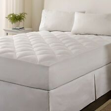 MICROFIBER DOWN ALTERNATIVE MATTRESS PAD, TWIN SIZE NEW, DIAMOND QUILT