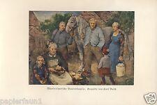 Münsterländische Bauernfamilie Kunstdruck von 1936 Münsterland Bauer Bauernhof
