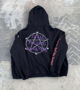 Vetements TFD Hoodie Mens Black Streetwear Total F*cking Darkness Size XL Goth