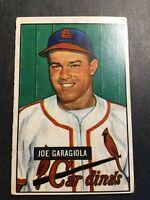 1951 Bowman #122 Joe Garagiola RC Rookie St Louis Cardinals HOF VG SET BREAK 2