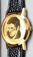 Rare ELVIS PRESLEY Gold Etched Faced Collectors Quartz Watch EPE Ltd Ed NIB Mint
