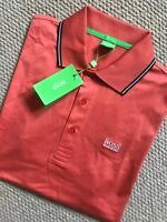 "HUGO BOSS GREEN LABEL ORANGE ""GR-PATRY 2"" GOLF POLO SHIRT TOP S M XXXL NEW TAGS"