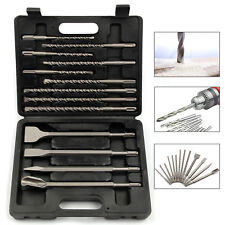 13 PIECE SDS PLUS DRILLS & CHISEL SET ROTARY HAMMER DRILL DEMOLITION HIGH IMPACT