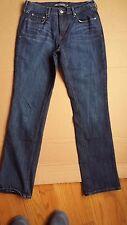 Womens LEVI'S 505 Straight Leg Jeans STRETCH DRAK SIZE 10