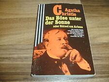 Agatha Christie -- BÖSE unter der SONNE / ein Hercule Poirot-Krimi / Scherz 1989