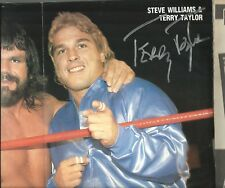 Eb1780 Terry Taylor signed Wrestling Magazine Poster w/ Coa Tully Blanchard