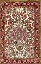 Breathtaking One-Of-A-Kind New Floral Ivory 3x5 Bidjar Oriental Area Rug Carpet