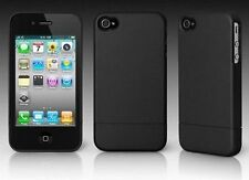 iPhone 4 4S BLACK Plastic Case with Rubberized Coating