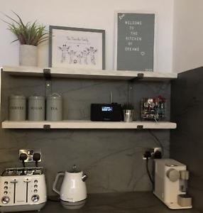 80cm - 90cm Scaffolding Shelf Reclaimed INCLUDES L Shaped STEEL Shelf Brackets
