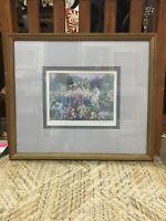 Lynn Gertenbach Framed Print, Monets Garden Hand Signed