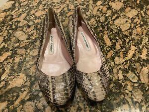 manolo blahnik Snake Flats Shoes Size 37