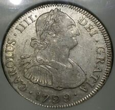1799☆ PTS P.P. Bolivia 4 Reales NGC XF40 ☆Rare Certified Cuzco Hoard Silver Coin
