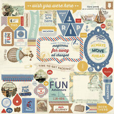 12 x 12 Authentique Explore Summer Travel Airplane Vacation Scrapbook Paper Kit