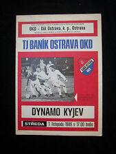 ORIG. prg UEFA Cup 1989/90 banik ostrava-dinamo kiev rara vez!!!
