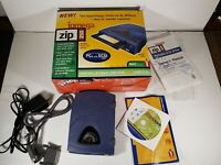 Iomega Zip 250 Z250S External Drive w Power Adapter Computer Cable and Box Mac