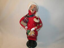 Byers Choice 2001 Shopping Man with Cranberries Sweets and Bear