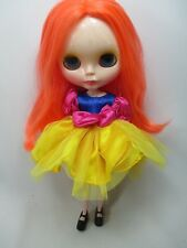 Handmade Outfit dress for Blythe doll fancy costume princess snow white