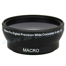0.45x Wide Angle Macro Lens for 49mm Nikon Canon Sony Fujifilm Samsung lens