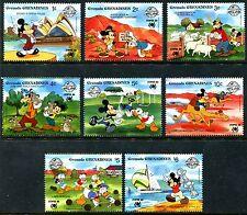 Grenada Grenadines 998-1005, Mnh, Disney characters, Mickey Mouse,1988. x10316