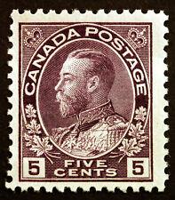 Canada #112 5c Violet 1922 King George V VF *MNH* CV $180