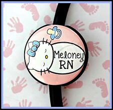 HELLO KITTY LABOR & DELIVERY NURSE CUSTOM NAME STETHOSCOPE ID Tag with your name