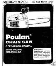 Poulan Chain Saw  Manuals