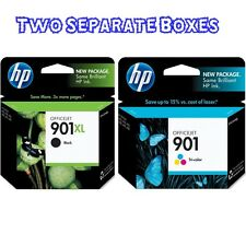 HP 901XL Black & 901 Tri-Color Ink 901XL J4540 4550 SEALED RETAIL BOX