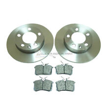 SKODA OCTAVIA FABIA VW BORA REAR 2 BRAKE DISCS AND PADS SET BRAND NEW