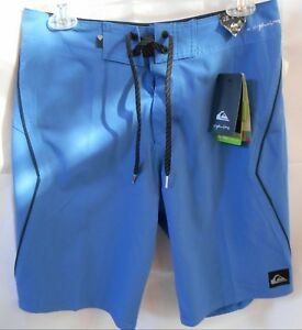 QUIKSILVER Men's HIGHLINE Board shorts Size 28 BLUE STRETCH DRY FLIGHT