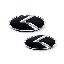 2PCs Black Front Rear 3D K Car Emblem Badge Fit For 10 11 12 13 Kia Forte Koup