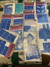 Glass Etching Stencils~ Large Assortment Lot~Rub n Etch +~8 New+7 Partial+ Knife