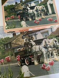 Vintage Falcon De-luxe Jigsaw Puzzle No.3571 Prelude Shire Horse Tetley 500piece