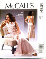 MCCALL'S SEWING PATTERN 7154 MISSES 14-22 RETRO VINTAGE 1930s MAXI EVENING DRESS