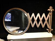 Vintage Fleur De Lis Extendable Accordion Mirror - 24 Inch Exrension
