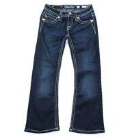 Miss Me Jeans Girls Size 12 Dark Wash Blue Jeans Bootcut JK5045B15