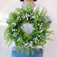Artificial Gypsophila Wreath Garland Hanging Wall Door Mantel Wedding Decor