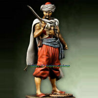 Resin 1/24 75mm Ancient Warrior Stand Figure Miniature Unassambled Garage Kits
