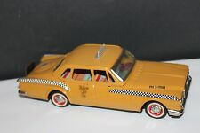 VERY NICE TIN FRICTION CUSTOM YONEZAWA 1961 PLYMOUTH VALIANT YELLOW  TAXI CAB