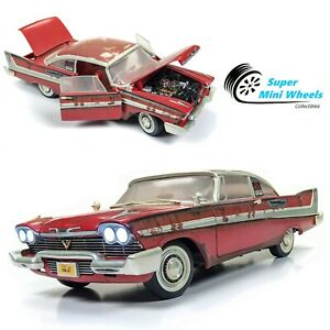 Auto World 1:18 Silver Screen - Christine - 1958 Plymouth Fury For Sale Version
