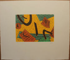 GOETZ Henri - Gravure au carborundum numérotée etching farblitografie **