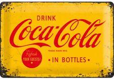 Blechschild 20 x 30 cm - Coca Cola - Yellow