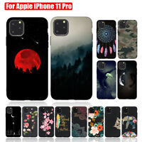 For iPhone 11 Pro Max Patterned Shockproof Soft Slim Rubber Back Case Cover