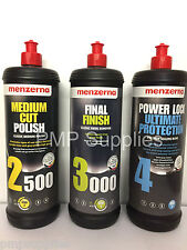 Menzerna 1 Litre Pack Medium 2500 Final Finish 3000 with Power Lock Ultimate