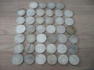Lot 40 Monnaies anciennes 5 Francs argent massif 481,2 Grs