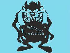 Taz Jaguar adhesivo con el logotipo con Ventana Pegatina De Vinilo Pegatina De Coche Lateral Parachoques T14