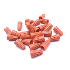 100 pc Orange P1 Screw On Nuts Standard Type Twist On Barrel AWG Wire Connectors