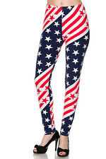 ONE SIZE Buttery Soft Always Brushed American Flag Leggings TC/35