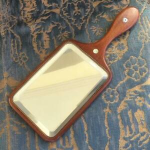 "RARE ANTIQUE c.1900 SHAKER SOCIETY 12"" TIGER MAPLE BEVELLED VANITY / HAND MIRROR"