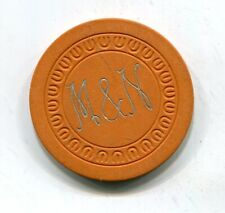 M&N (Club Forest) New Orleans La.Illegal Gambling Chip The M Is Frank Mill 1950