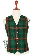 Scottish 5 Buttons TARTAN Waistcoat Kilt VEST Formal Plaid Vest Wedding Vest
